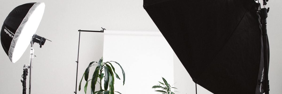 Tillbehör för studiobilder hemma