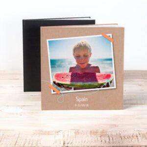 Fotobok XL kvadratisk deluxe hårt omslag - Läderimitation
