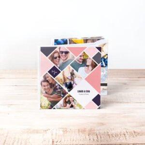Fotobok stor kvadratisk hårt omslag - Läderimitation