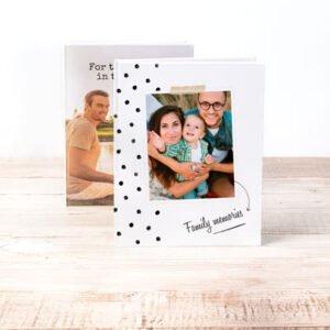 Fotobok stor porträtt hårt omslag - Läderimitation