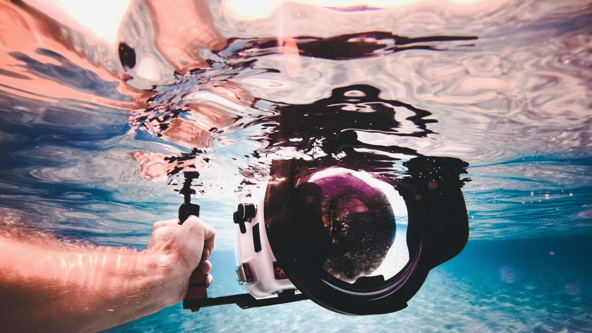 Undervattenshus till systemkameran